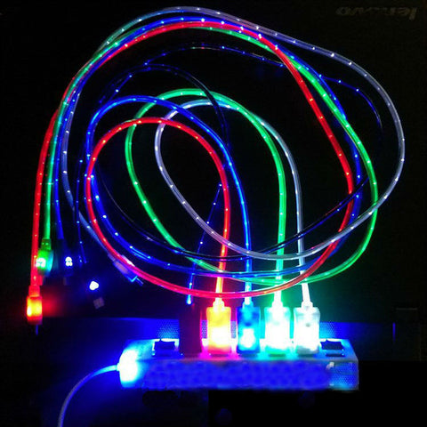 5 Colors 1M LED LightMicro USB Cable Charger Sync Cord For Samsung Galaxy S3 S4 S5 HTC Android