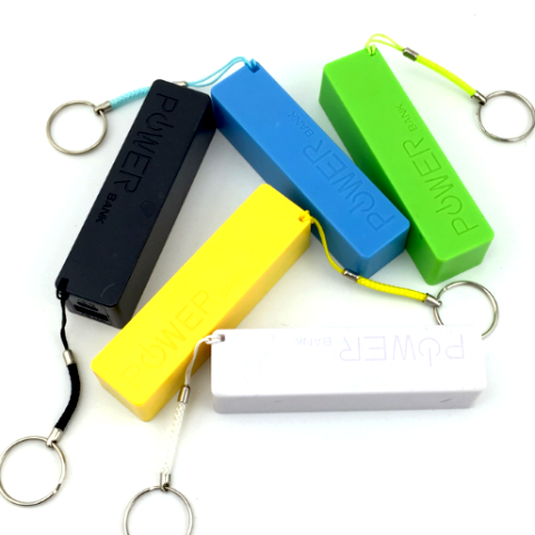 Universal External Portable Power Bank Battery Charger Backup Powerpack iPhone Samsung Keychain