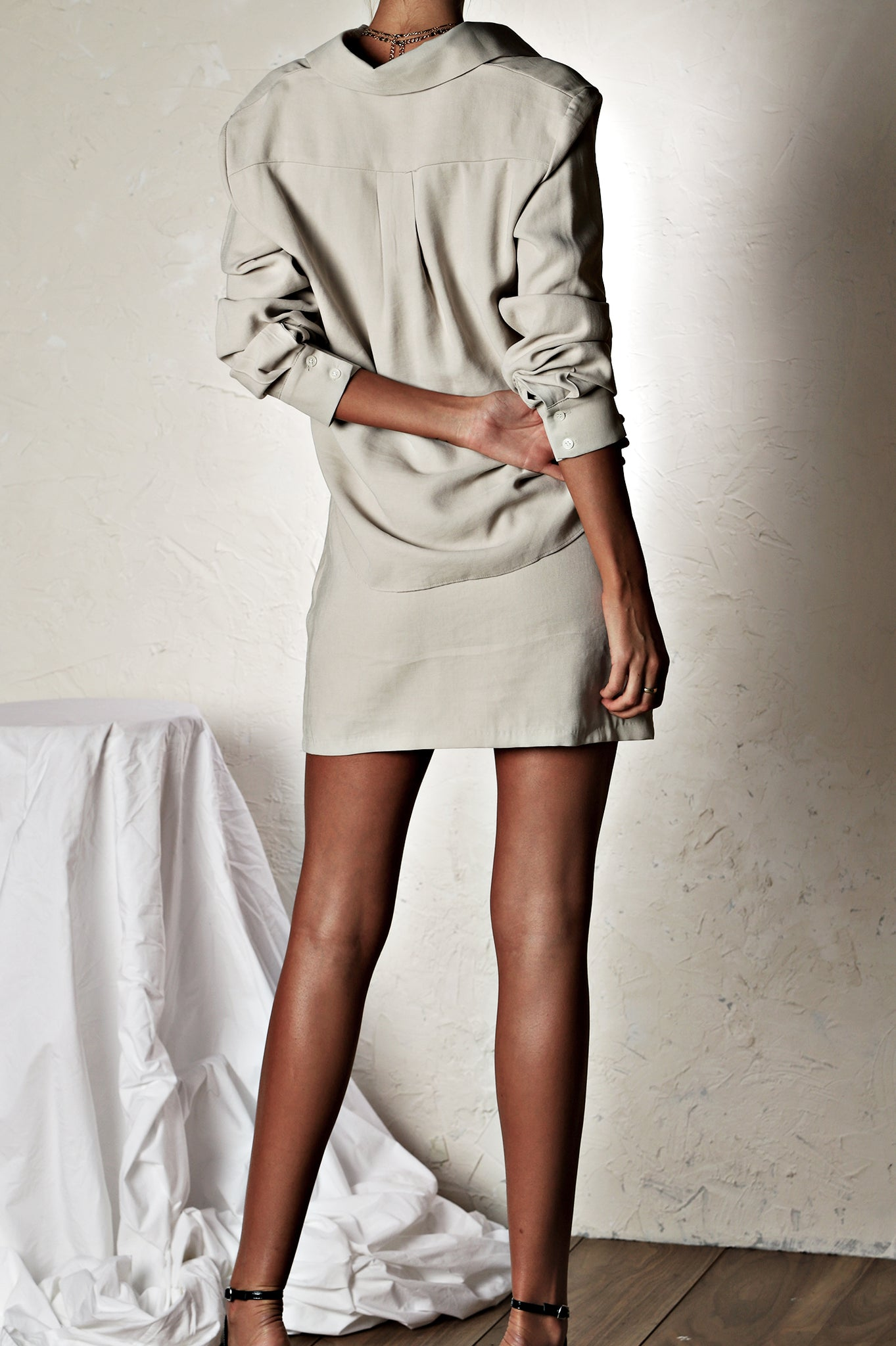 The Unexpected Mini Dress - Light Grey