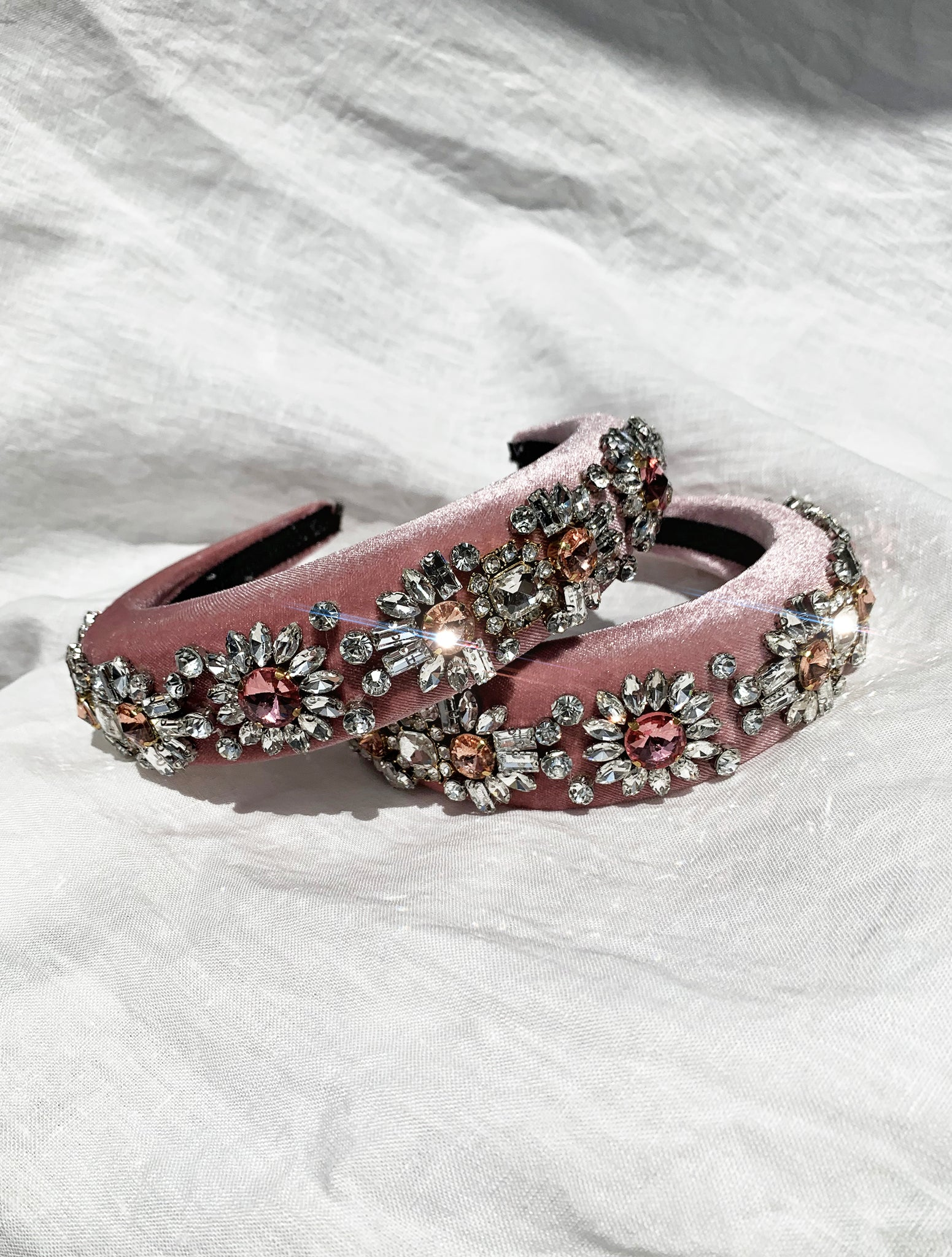 THE BLOSSOM HEADBAND - BABY PINK
