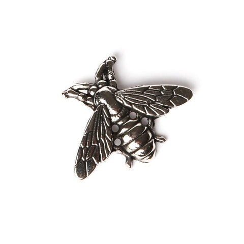 Chrome Bee Collar Pin