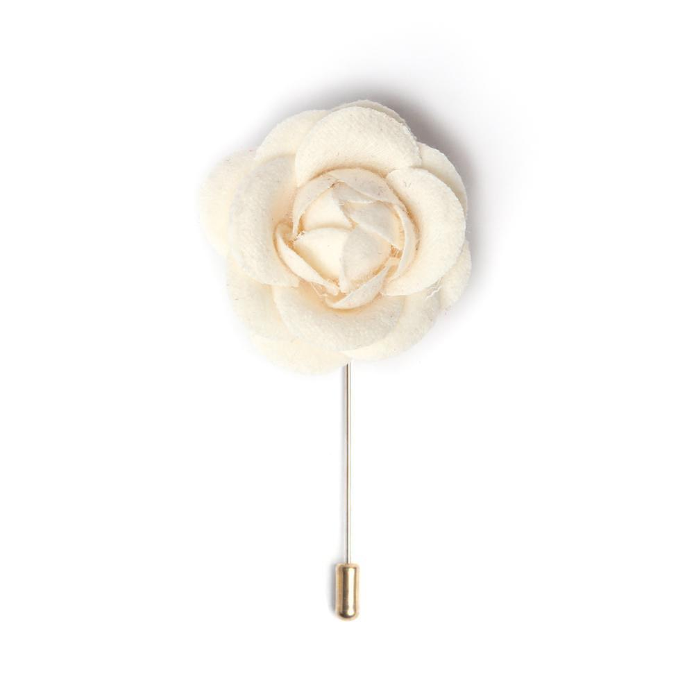 Ivory Cream Deluxe Lapel Pin
