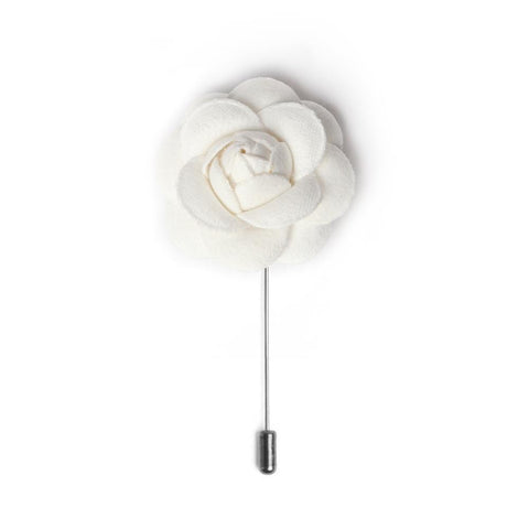 Powder White Deluxe Lapel Pin