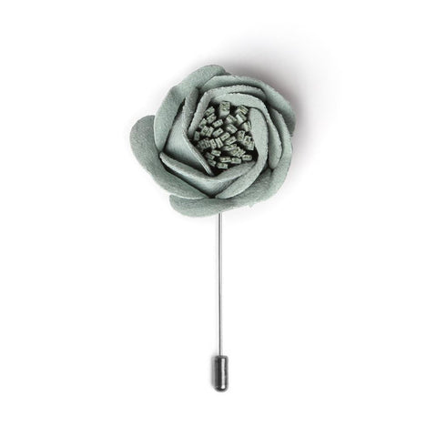 Sage Rose Bud Deluxe Lapel Pin