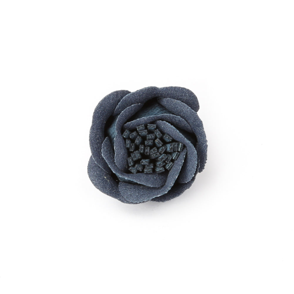 Aegean Blue Rose Bud Deluxe Pin