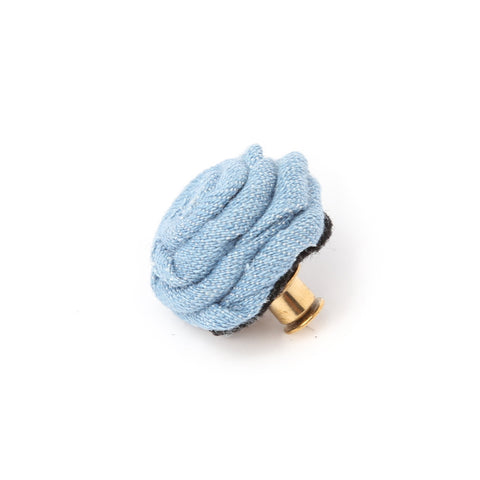 Denim Flower Deluxe Pin