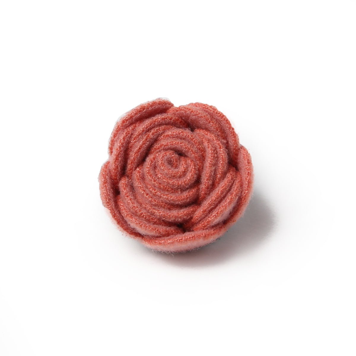 Coral Felt Deluxe Pin