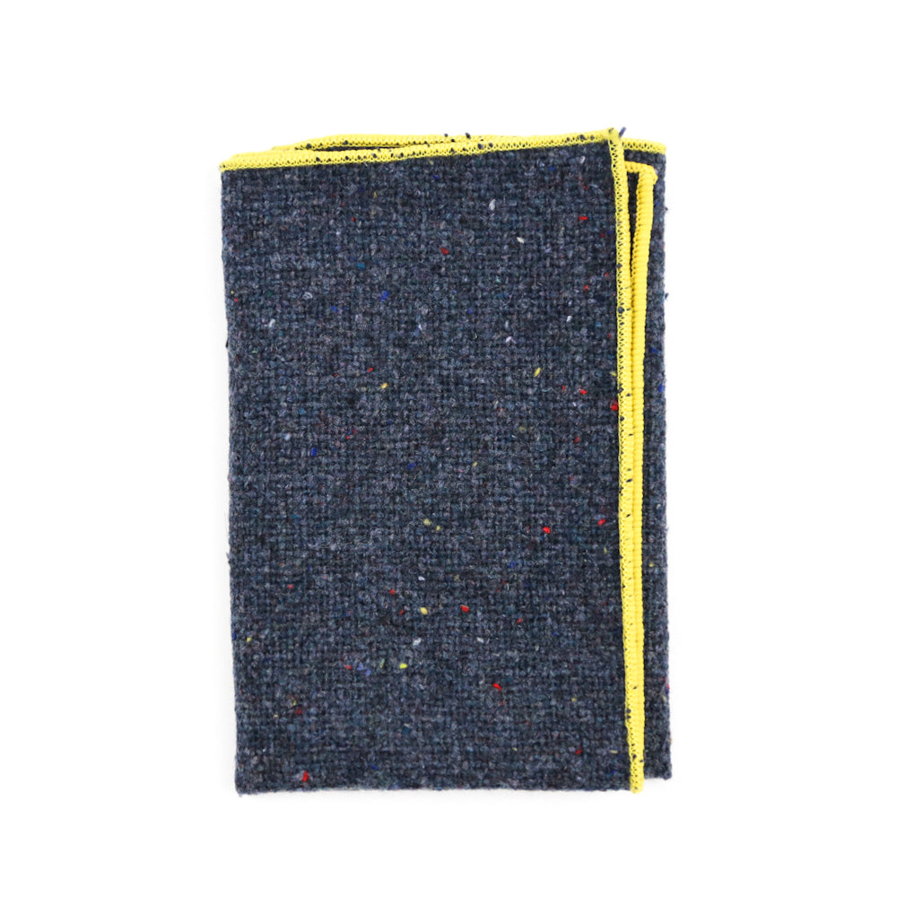 Blue Tweed Pocket Square