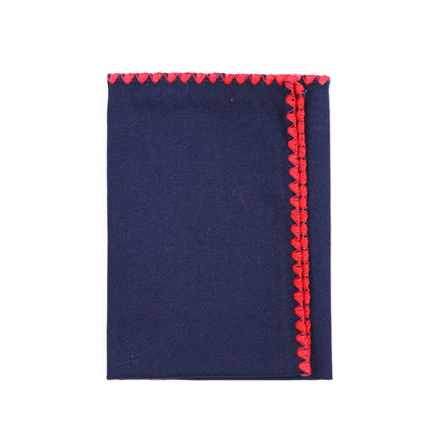 Navy Canvas Pocket Square