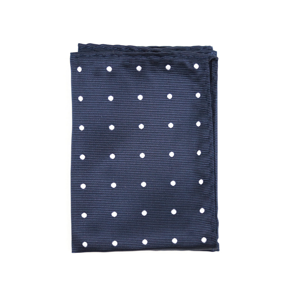 Navy Dotted Pocket Square