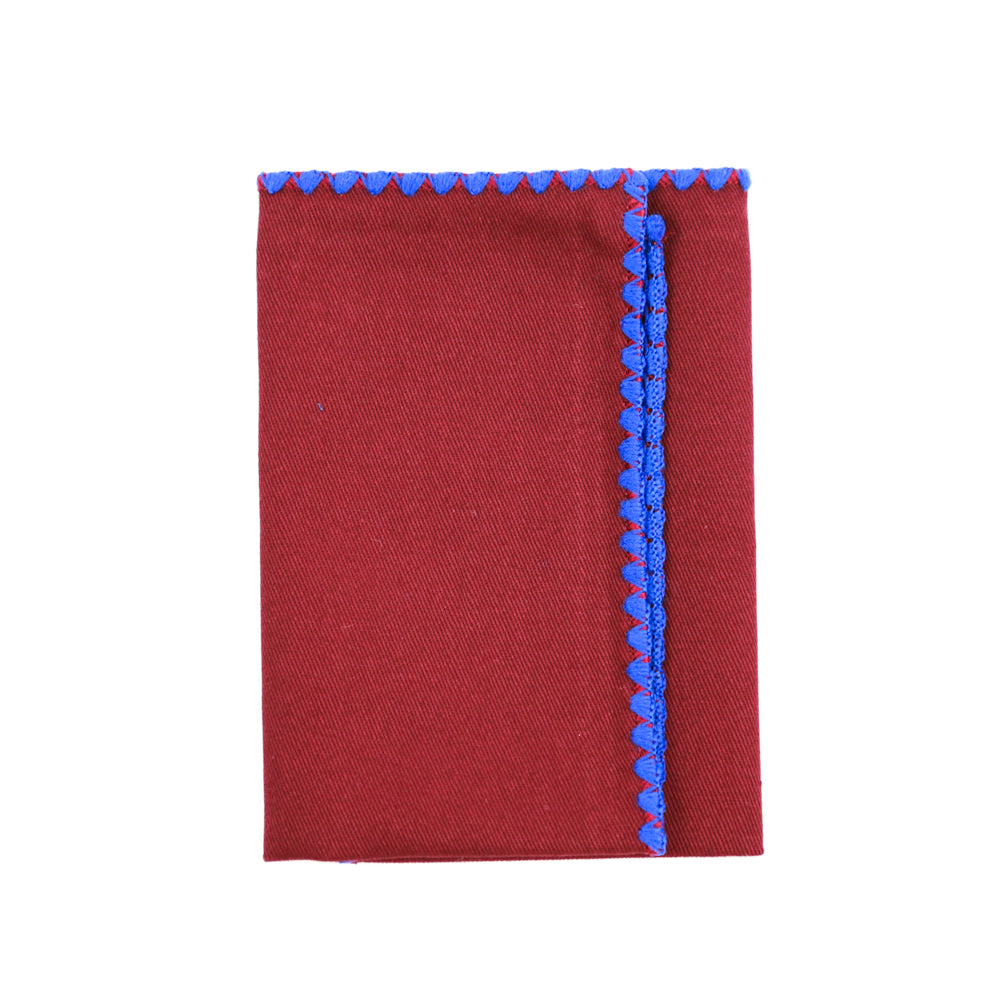 Maroon Canvas Pocket Square