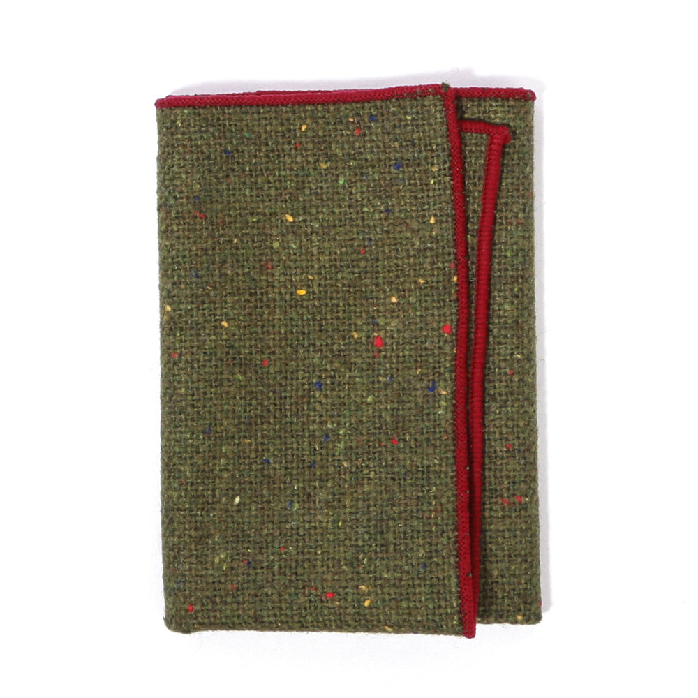 Olive Tweed Pocket Square