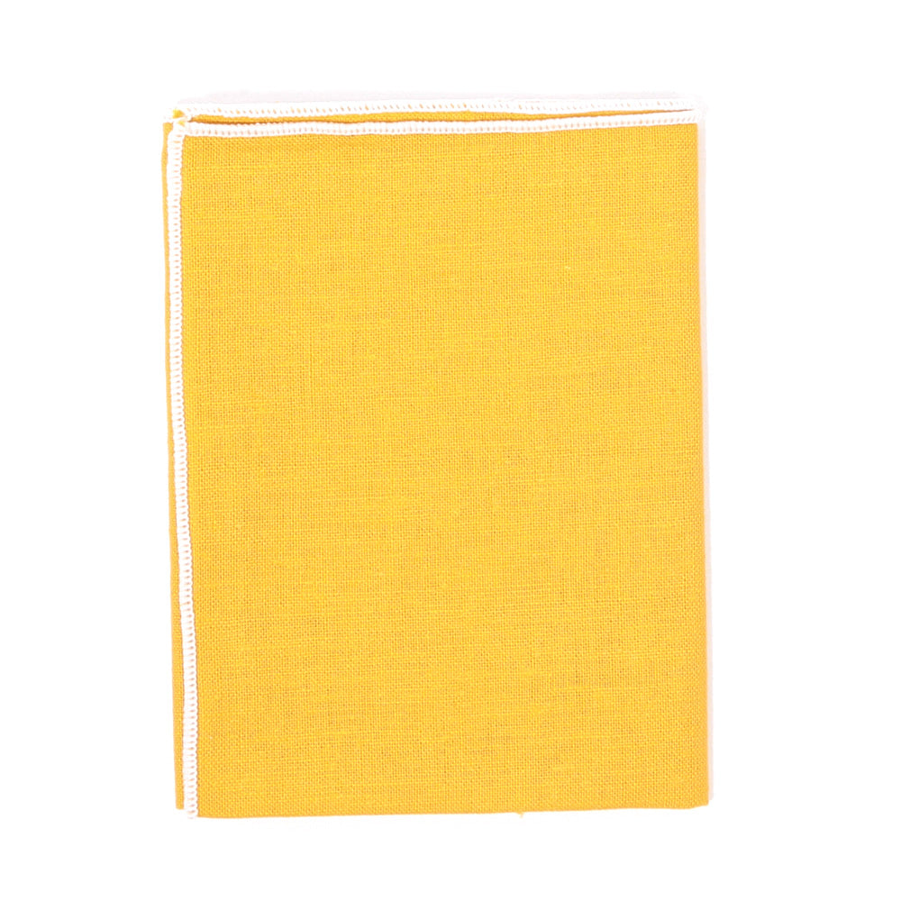 Mustard Linen Pocket Square