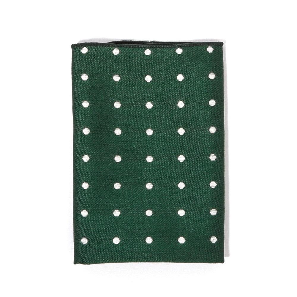 Forest Green Dotted Pocket Square