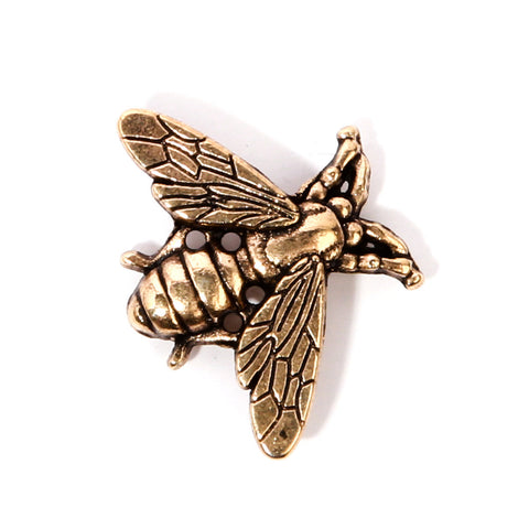 Gold Bee Collar Pin