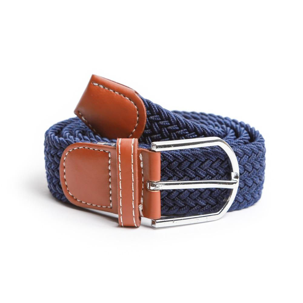 Navy Braided Elastic Belt