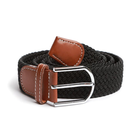 Black Braided Elastic Belt
