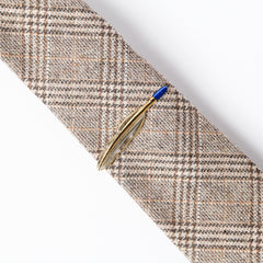 Gold Feather Tie Bar