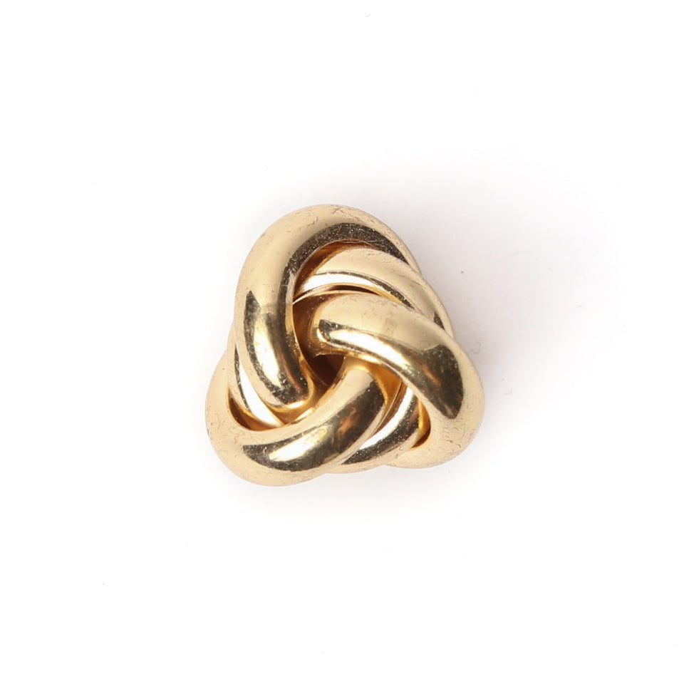 Polished Gold Rings Collar Pin