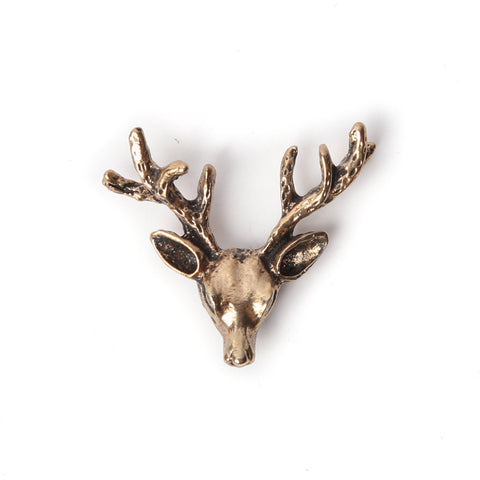 Gold Reindeer Collar Pin