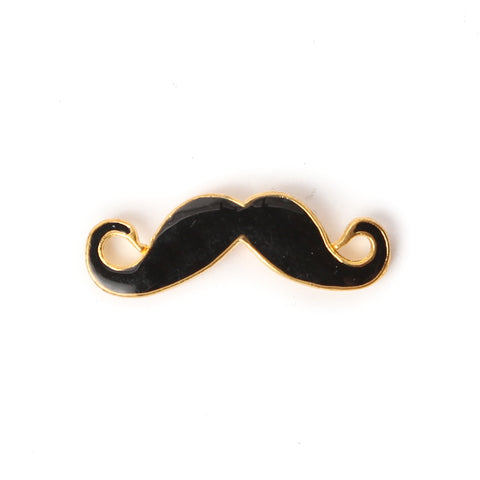 Gold Mustache Collar Pin