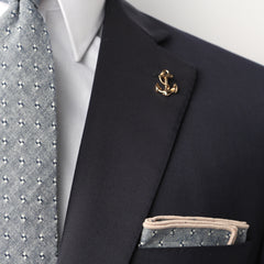 Gold Anchor Collar Pin