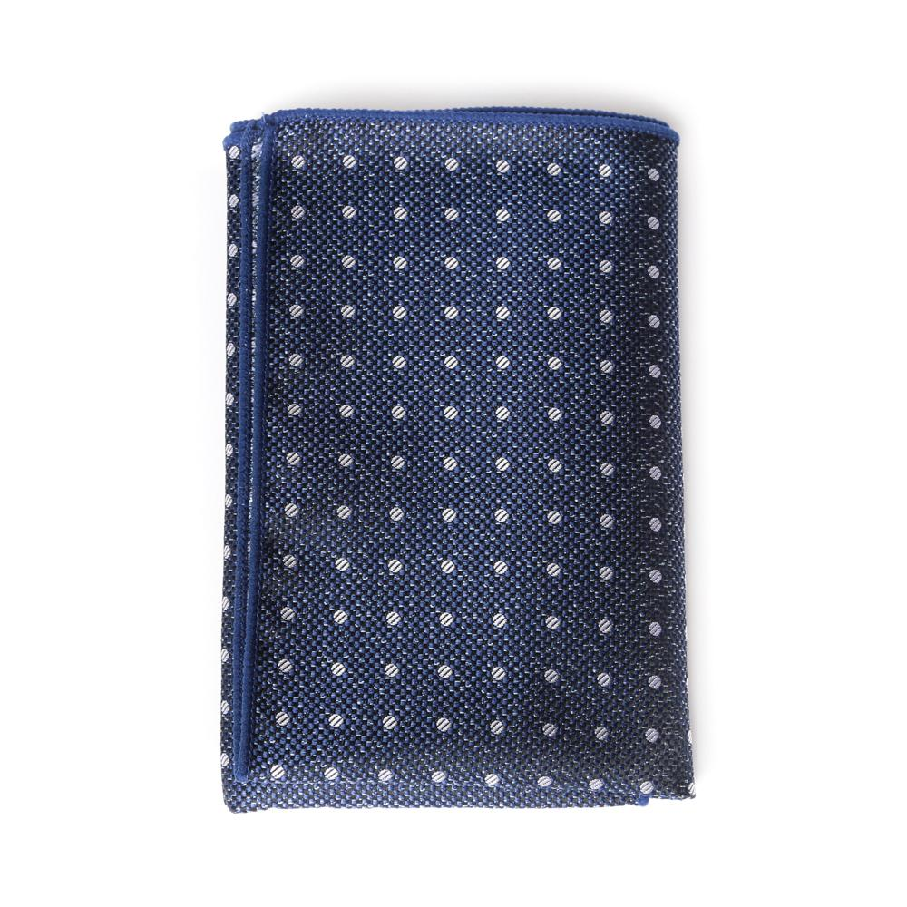 Steel Dotty Pocket Square