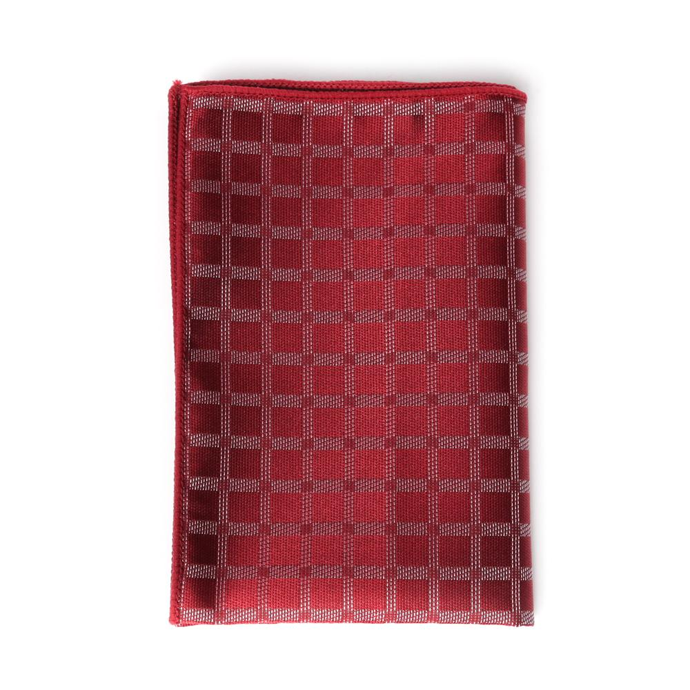 Crimson Diamond Pocket Square