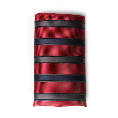Pinstripe Grosgrain Pocket Square