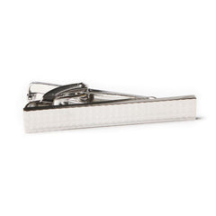 Silver Diamond Cuts Tie Bar