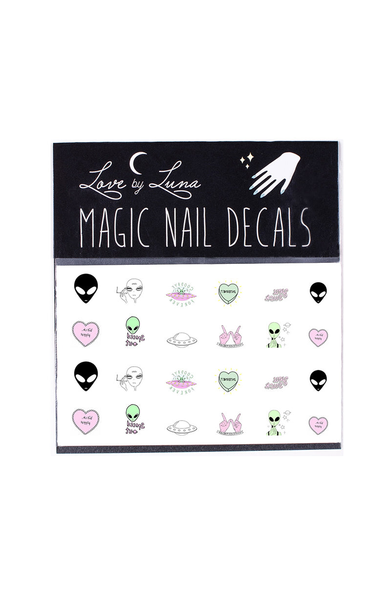 alien tumblr heart candy nail decals