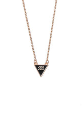 aquarius gold plated zinc alloy triangle necklace from love by luna