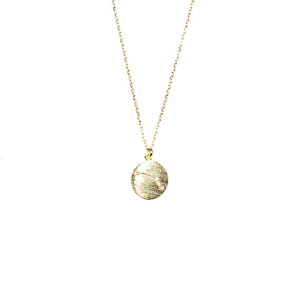 listing rose zodiac il taurus necklace gold