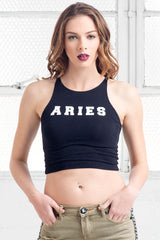 aries cotton crop top shirt from love by luna
