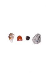 aries crystal set from love by luna - citrine point, red jasper, garnet, rainbow moonstone