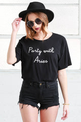 aries cotton oversized tee shirt from love by luna