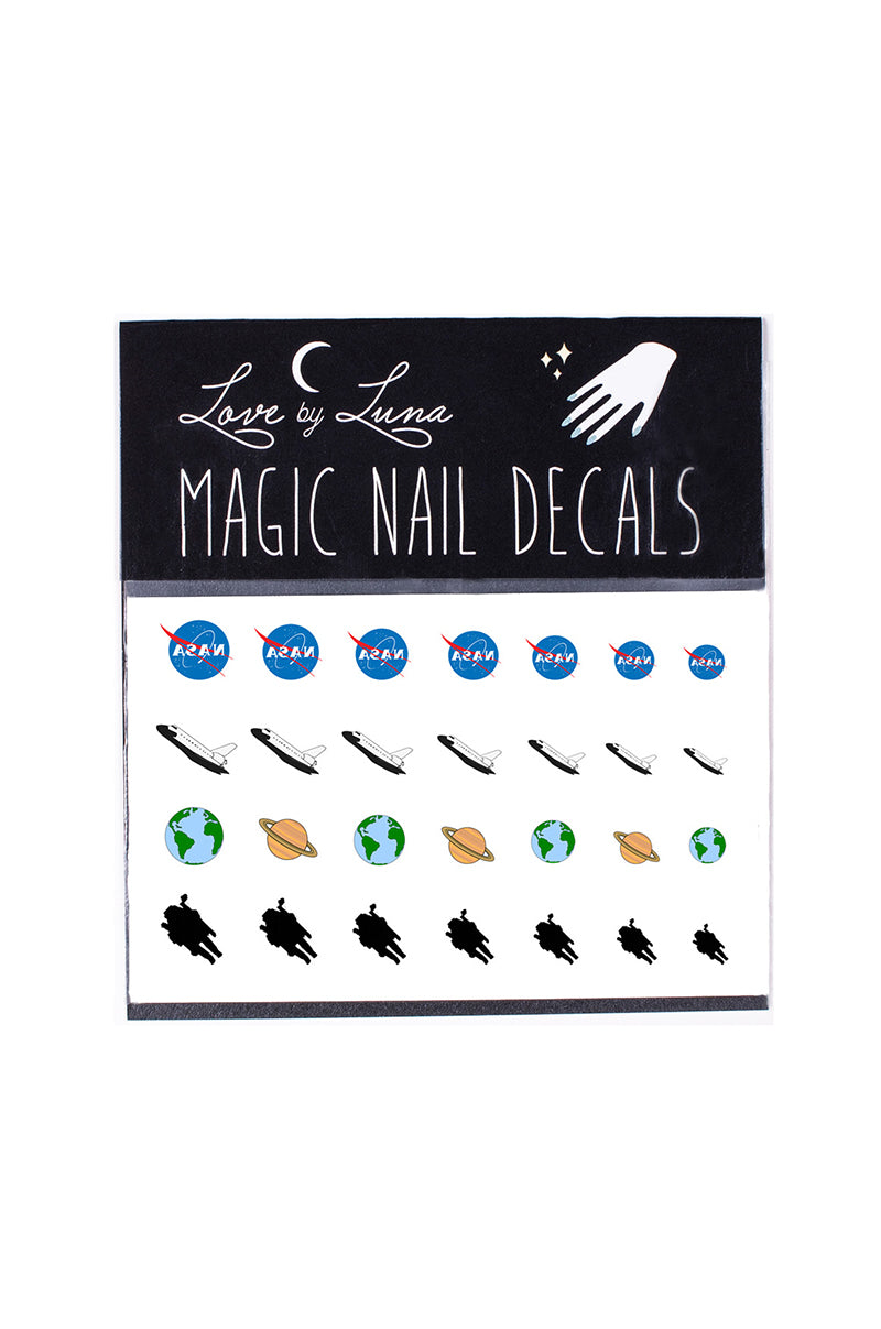 astronaut nail decals space nasa rocket ship earth jupiter planets