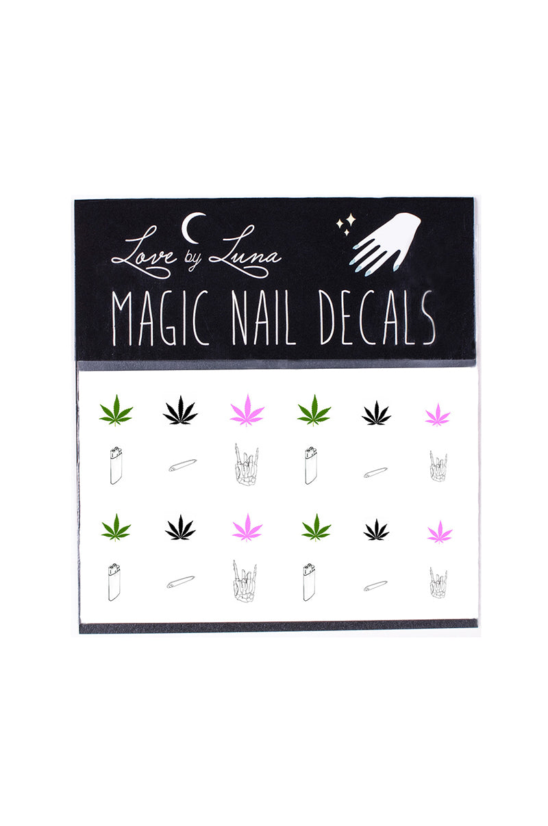 best buds nail decals pot marijuana cannabis joints spliff smoke