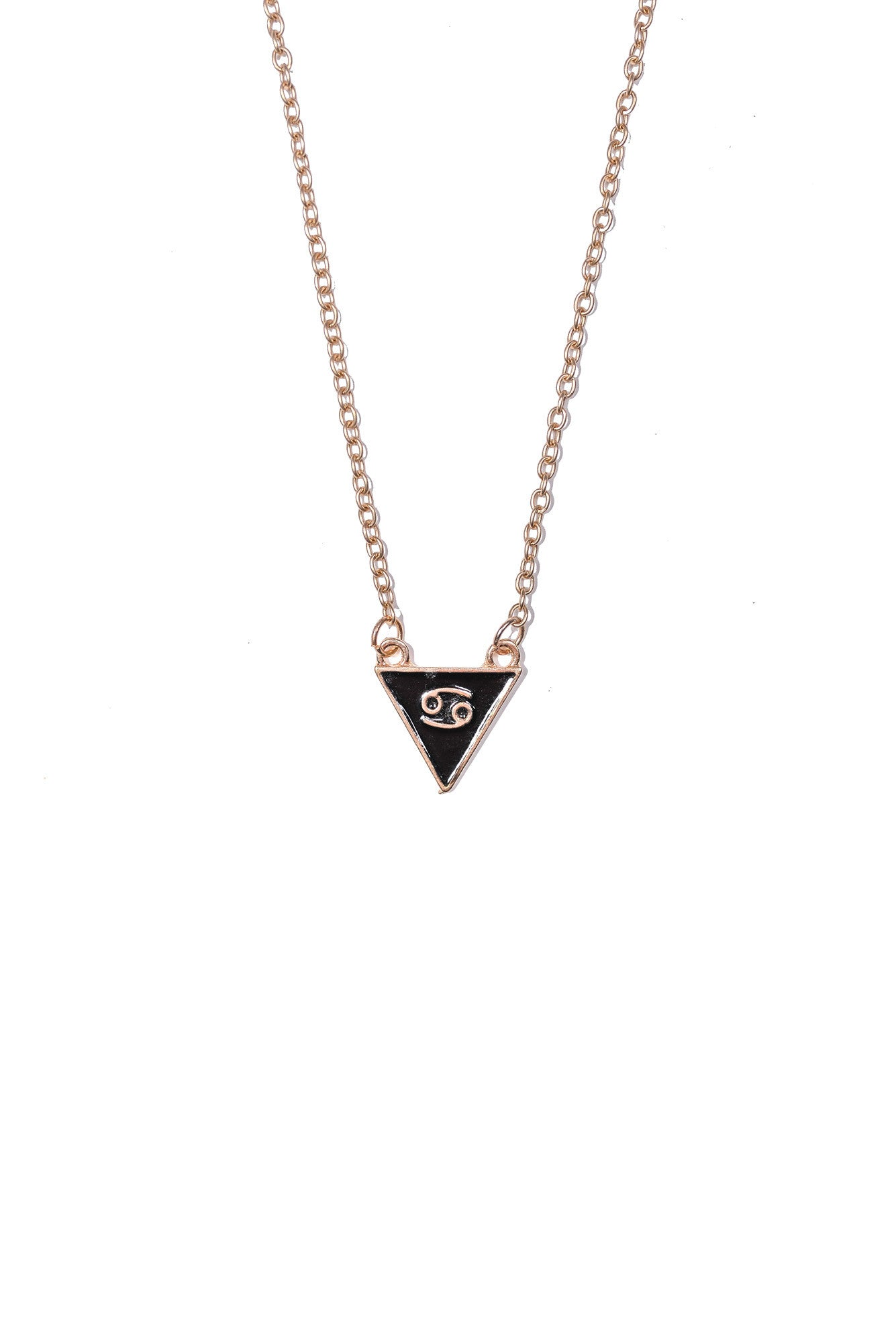 Cancer Triangle Necklace