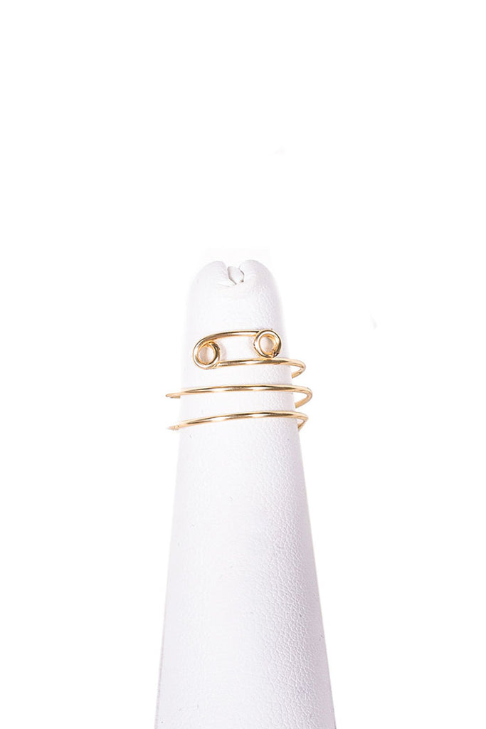 cancer zodiac gold wire-wrapped midi ring from love by luna
