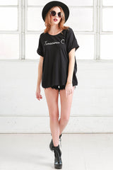 oversized cancer cotton tee shirt from love by luna