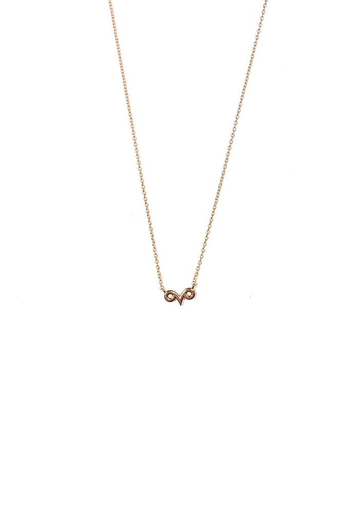 dainty aries necklace from love by luna