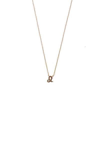 dainty leo necklace from love by luna