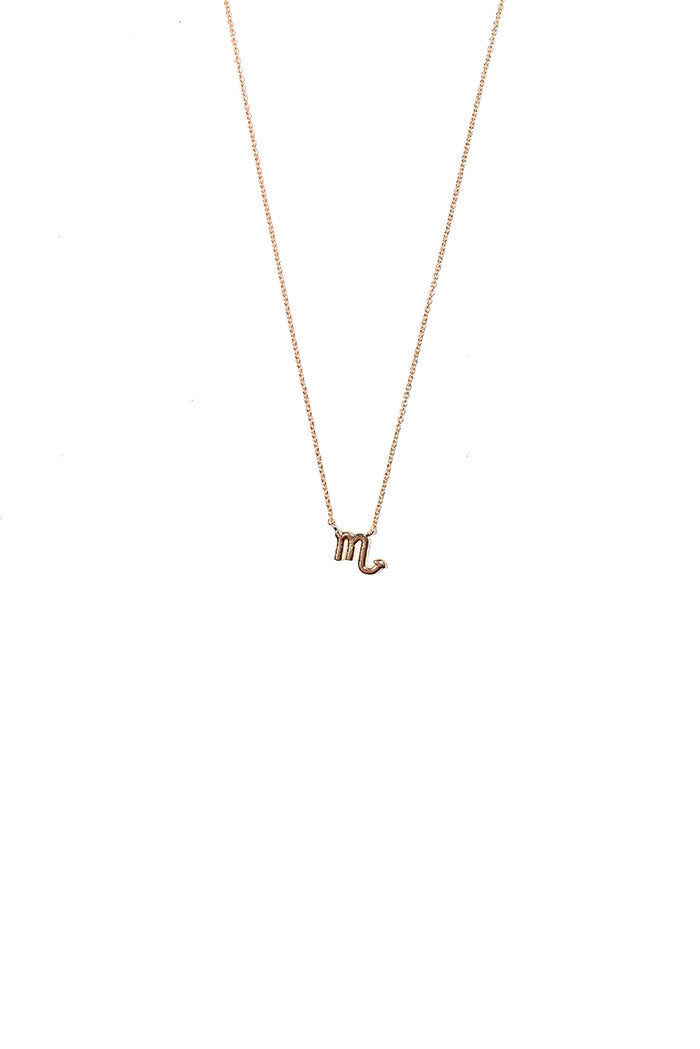 dainty scorpio necklace from love by luna