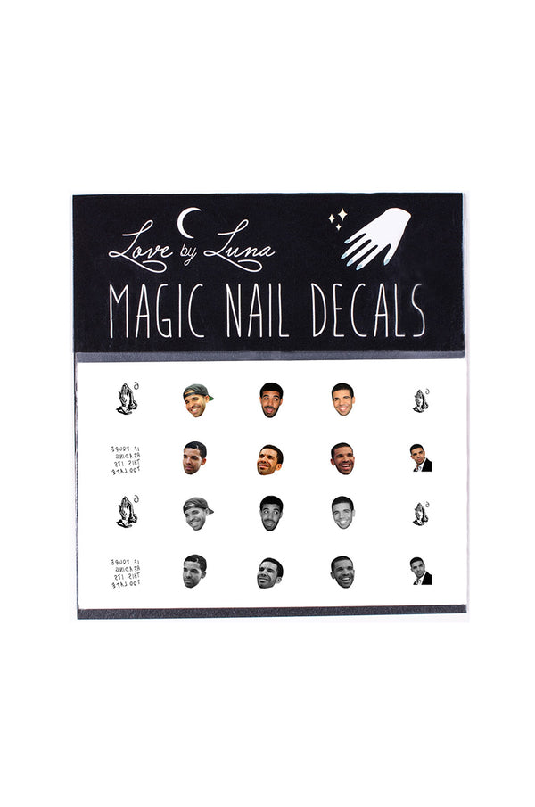 drake nail decals face meme