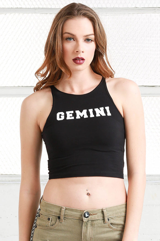 Gemini cotton Crop Top shirt from love by luna