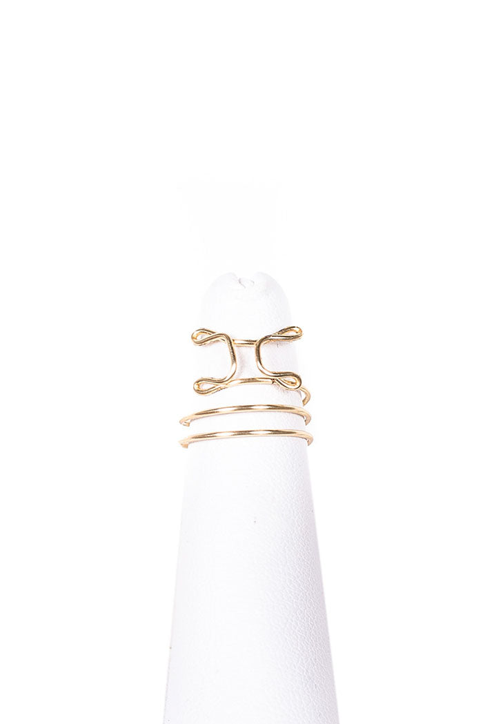 Gemini gold wire wrapped Midi Ring from love by luna