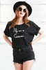 Gemini cotton Oversized Tee from love by luna