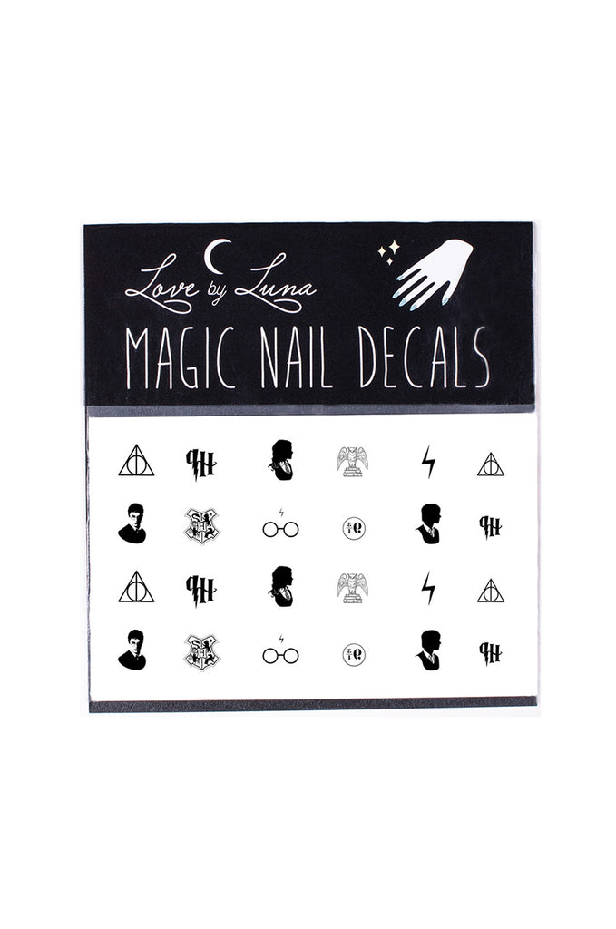 harry potter nail decals ron weasly hermione granger deathly hallows