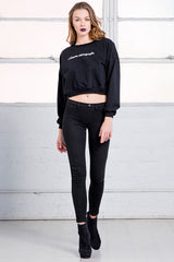 cotton I Blame Retrograde Cropped Sweatshirt from love by luna